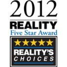 2012 Reality Five Star Award